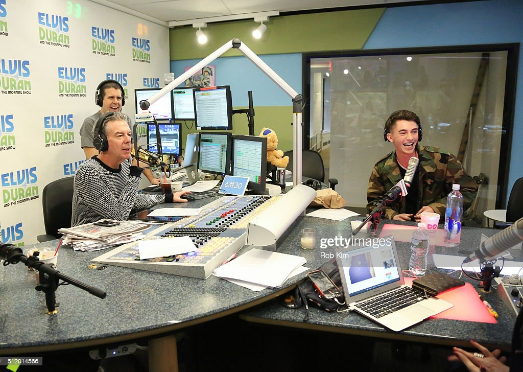 Greyson Chance (R) visits 'The Elvis Duran Z100 Morning Show' at Z100...