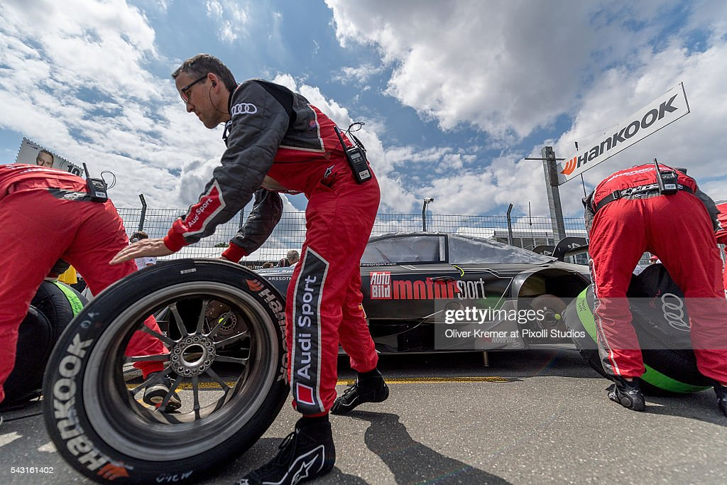 Grid Mechanics in action prior to the German Touring Car Championship race at the Norisring during Day 3 of the 74. International ADAC Norisring Speedweekend on June 26, 2016 in Nuremberg, Germany.