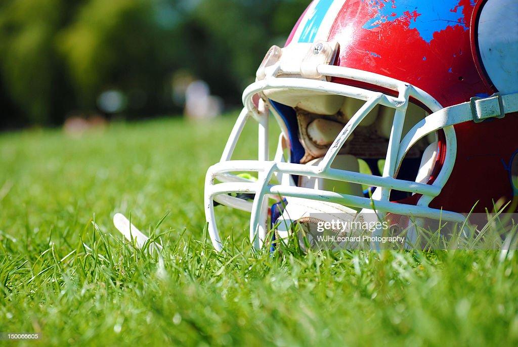 Gridiron helmet : Stock Photo