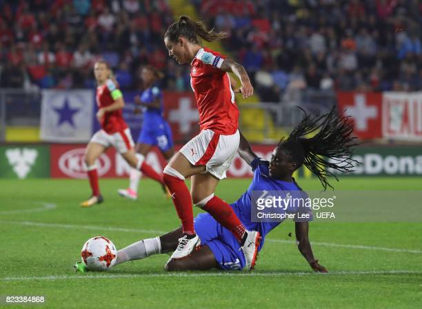 Griedge M'Bock Bathy of France tackles Ramona Bachmann of Switzerland during the UEFA Women's Euro 2017 Group C match between Switzerland and France...