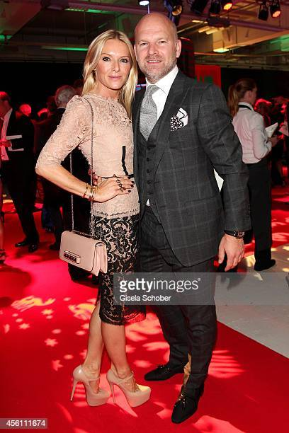 Gries Deco Company GmbH Christian Gries and his wife Sandra arrive at Tribute To Bambi 2014 at Station on September 25 2014 in Berlin Germany