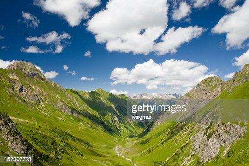 griesltal -欧州アルプス、チロルにオーストリア