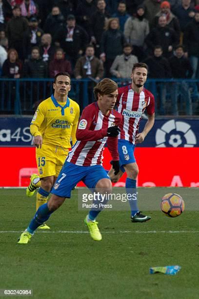 Griezman Roque Mesa and Saul Atletico de Madrid won by 1 to 0 over Las Palmas with a great goal by Saúl Ñiguez
