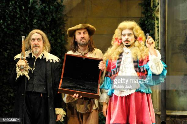 Griff Rhys Jones as Harpagon Lee Mack as Maitre Jacques and Ryan Gage as Cleante in Sean Foley and Phil Porter's adaptation of Molliere's The Miser...