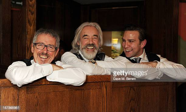 Griff Rhys Jones Roger Lloyd Pack and Stefan Booth working as waiters attend One Night Only at The Ivy featuring 30 stage and screen actors working...