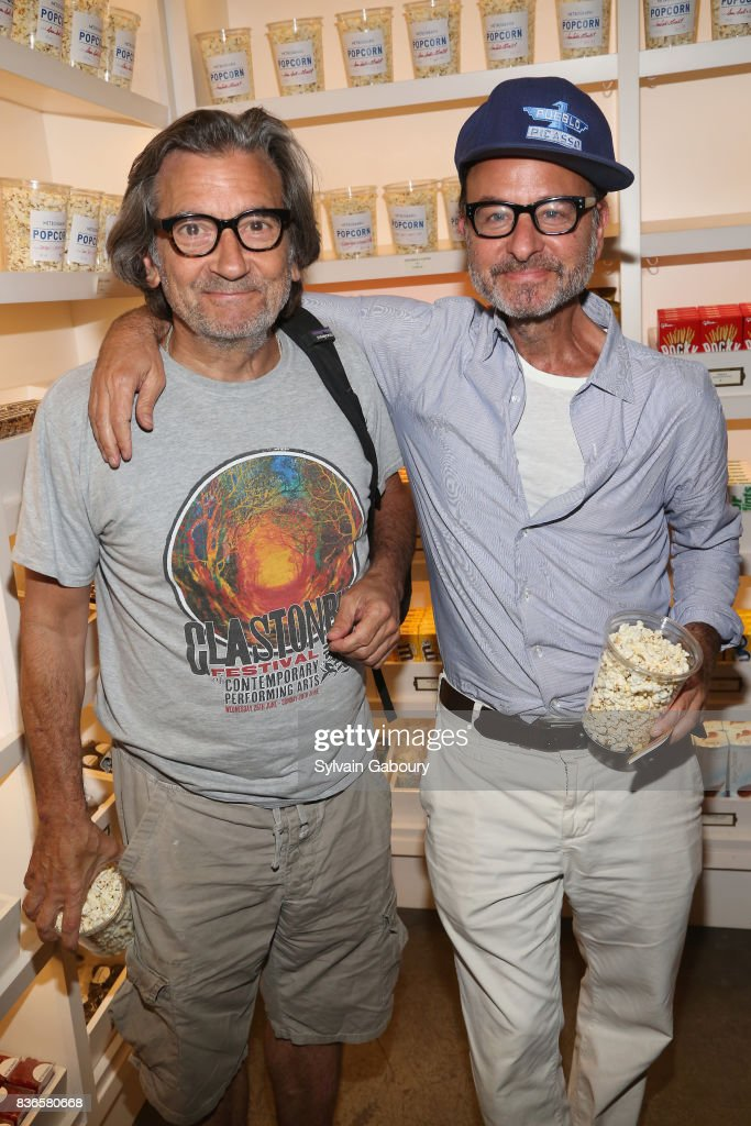 Dominic Dunne and Fisher Stevens attend 'Dolores' New York Premiere at Metrograph on August 21, 2017 in New York City.