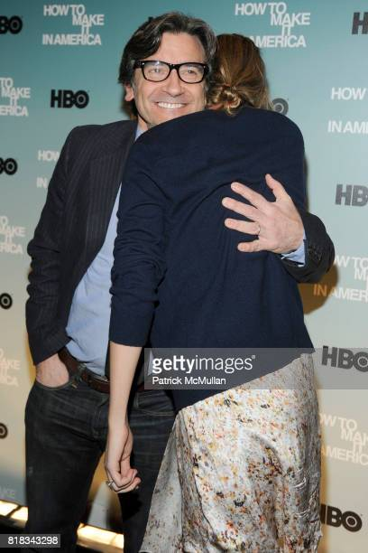Griffin Dunne and Leelee Sobieski attend HBO THE CINEMA SOCIETY host a screening of 'HOW TO MAKE IT IN AMERICA' at Landmark Sunshine Theater on...