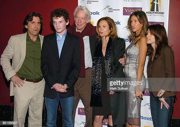 Griffin Dunne director Anton Yelchin Donald Sutherland Diane Lane Paz de la Huerta and Kristen Stewart