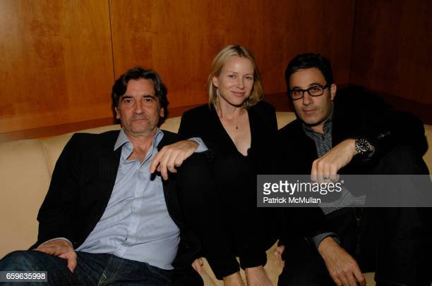 Griffin Dunne Naomi Watts and Jason Weinberg attend Andre Balazs Saturday Night Party at Boom Boom Room on October 10 2009 in New York City