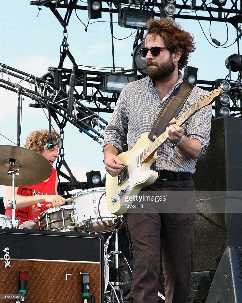 Griffin Goldsmith of Dawes performs during the 2013 Forecastle Festival at Waterfront Park on July 13, 2013 in Louisville, Kentucky.