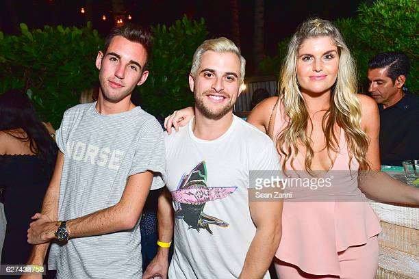 Griffin Lipson Josh Miller and Jane McGraw attend A$AP Worldwide Cozy Clubhouse at The Surf Lodge Bungalow on December 2 2016 in Miami Beach FL