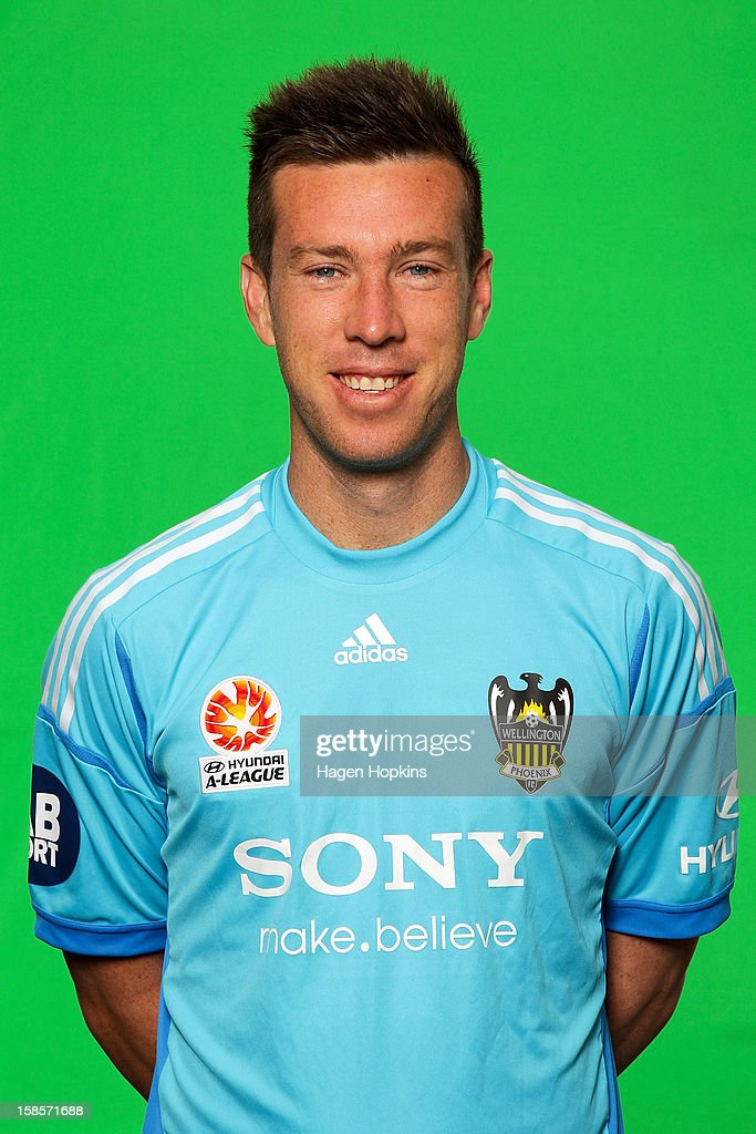 Griffin McMaster poses for the Wellington Phoenix 2012-13 A-League season headshots at Newtown Park on December 20, 2012 in Wellington, New Zealand.