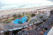 'Durban in major facelift ahead of World Cup' Photo taken on February 11 2010 shows a general view of Durban's Golden Mile Beach stretching 8...