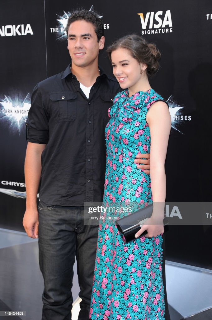 Griffin Steinfeld and actress Hailee Steinfeld attend 'The Dark Knight Rises' New York Premiere at AMC Lincoln Square Theater on July 16, 2012 in New York City.