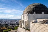 Griffith Observatory and city skyline - Los Angeles, California, USA