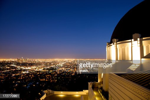 Griffith observatory in twilight