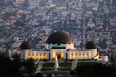 Sitting on Mount Hollywood in Los Angeles, Griffith Observatory is one of the most visited landmarks in southern California, USA.