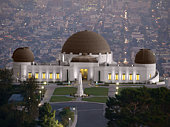 Griffith Park Observatory, famous Los Angeles city owned landmark.  Griffith Park Observatory