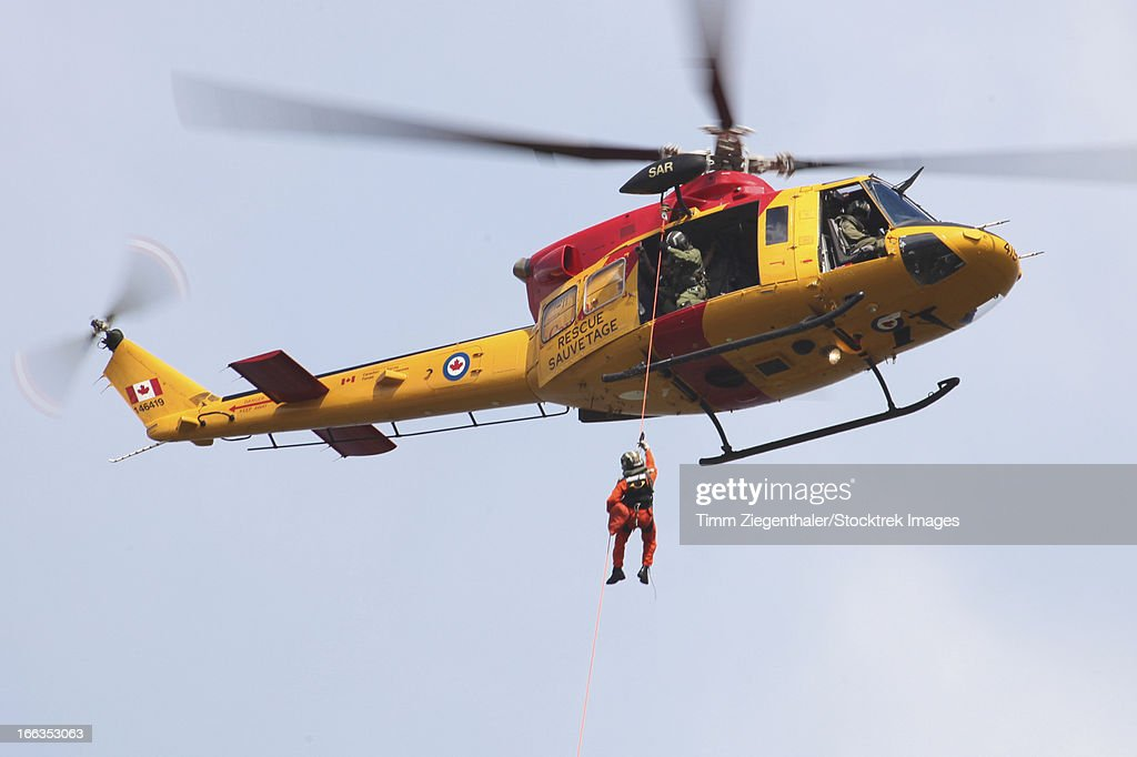 CH-146 Griffon of the Canadian Forces during a joint search and rescue exercise with the German Navy, Kiel, Germany.
