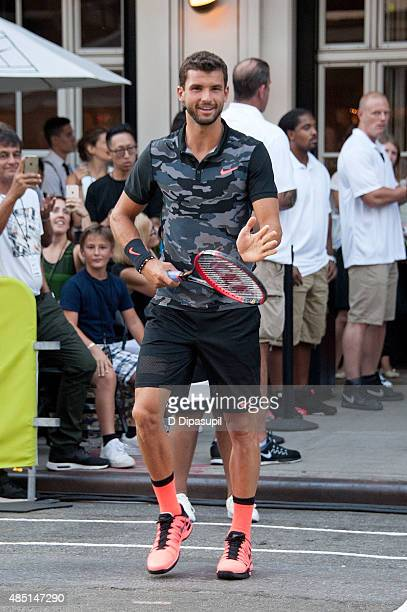 Grigor Dimitrov attends Nike's 'NYC Street Tennis' event on August 24 2015 in New York City