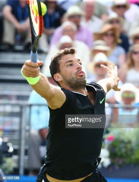 Grigor Dimitrov BUL against Daniil Medvedev during Men's Singles Quarter Final match on the fourth day of the ATP Aegon Championships at the Queen's...