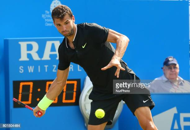 Grigor Dimitrov BUL against Julien Benneteau during Round Two match on the third day of the ATP Aegon Championships at the Queen's Club in west...