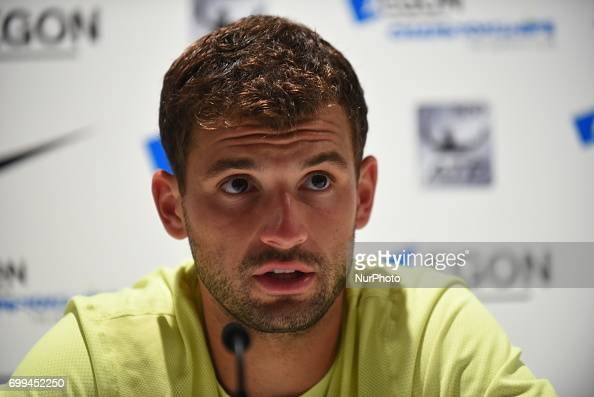 Grigor Dimitrov Press Conference - AEGON Championships 2017 : News Photo