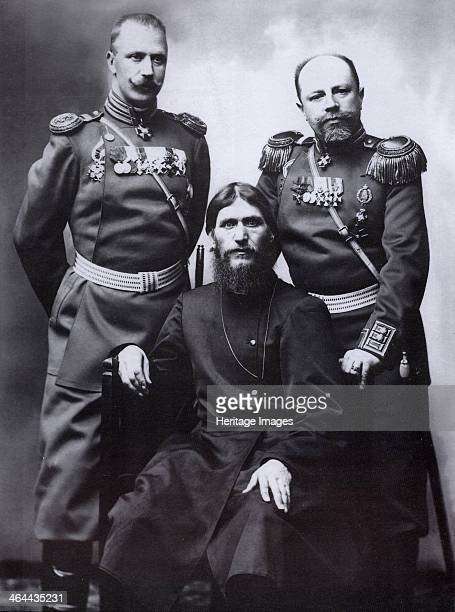Grigori Rasputin General Count Mikhail Putyatin and Colonel Dmitriy Lotman