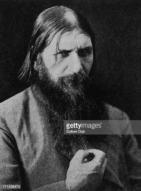 Grigori Rasputin Russian mystic involved with last Tsar of Russia 22 January 1869 19 December 1916 Photograph in Bookman Christmas 1927