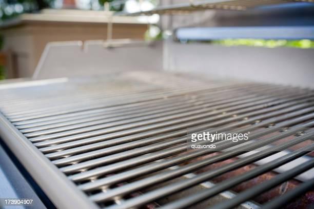 Barbecue-Grill, Nahaufnahme und sauber, Textfreiraum