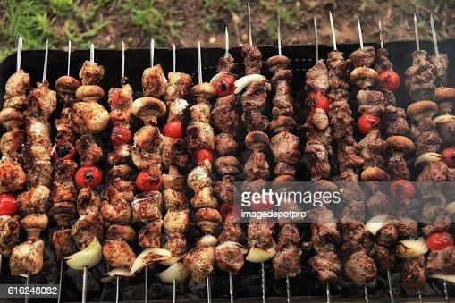 grill in picnic : Stock Photo