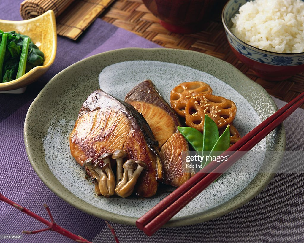 Grilled Amberjack : Stock Photo