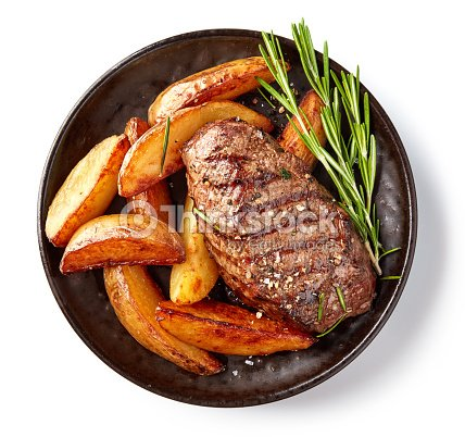 grilled beef steak : Stock Photo