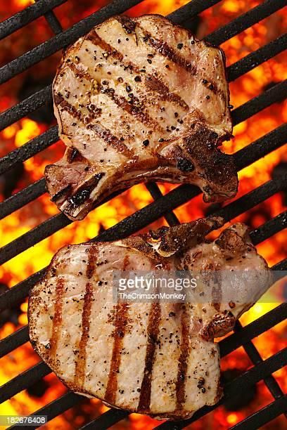 Grilled Bone-In Pork Chops