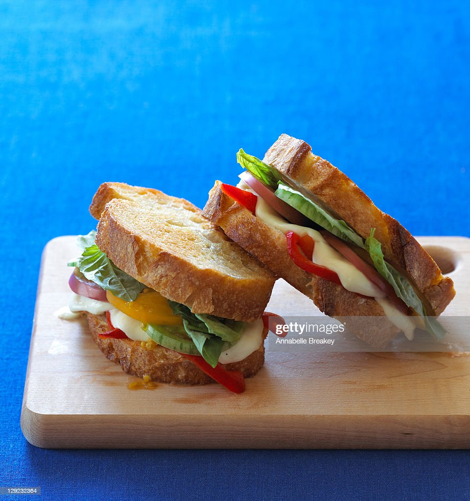 Grilled Caprese Sandwiches : Stock Photo