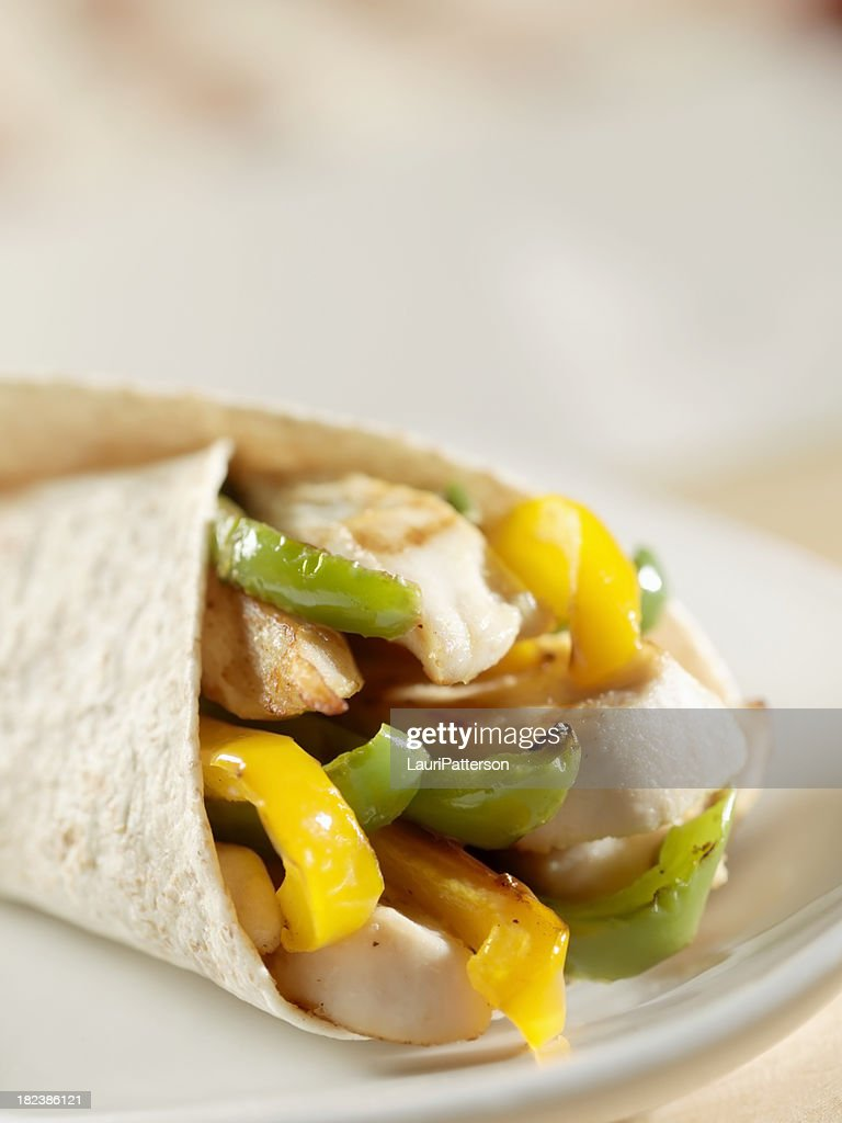 Grilled Chicken and Pepper Fajita : Stock Photo