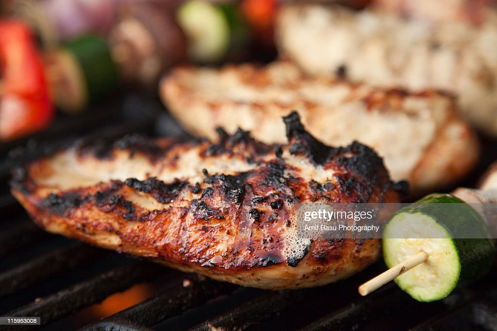 Grilled chicken and vegetable : Stock Photo