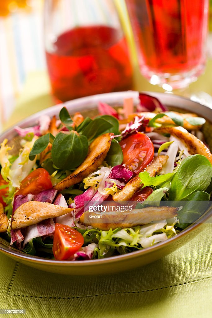 Grilled Chicken Breast Salad : Stock Photo