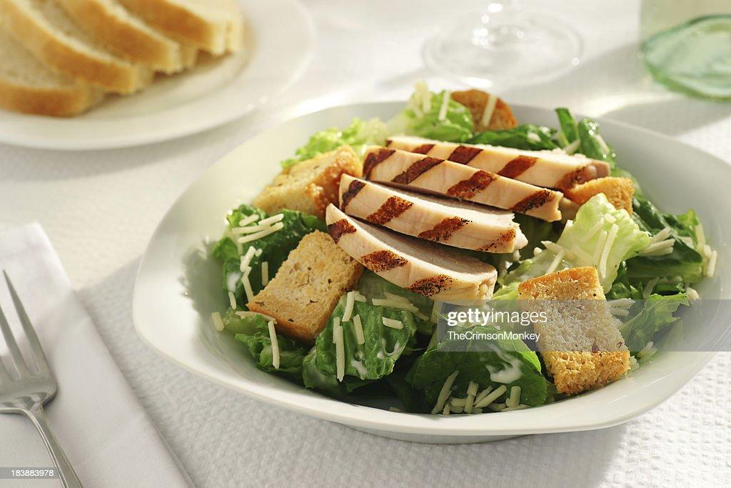Grilled Chicken Caesar Salad : Stock Photo