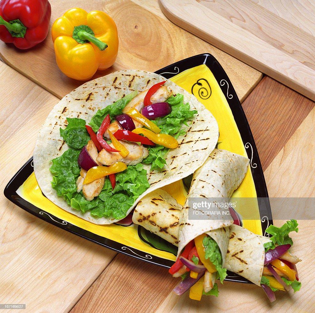 Grilled Chicken Fajita : Stock Photo