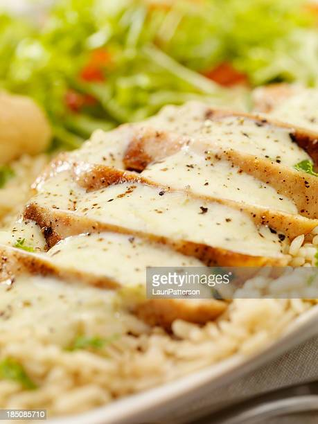 Grilled Chicken in a Cheese and Broccoli cream Sauce