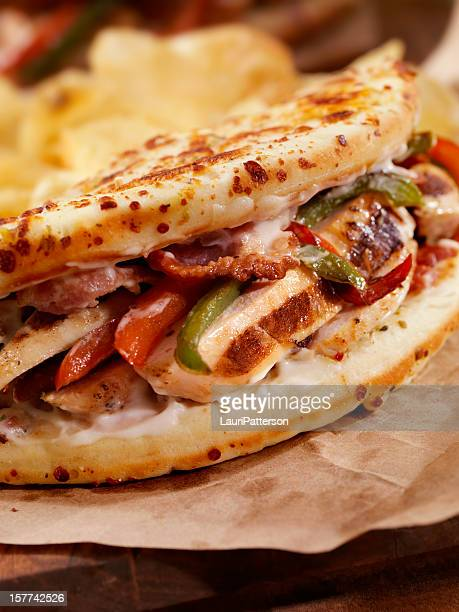 Grilled Chicken Ranch IItalian Fatbread Sandwich