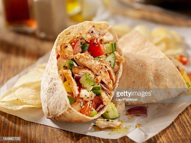 Grilled Chicken Salad Pita Sandwich