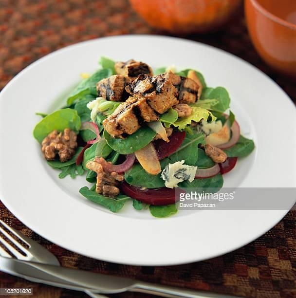 Grilled chicken salad w/ bleu cheese vinaigrette