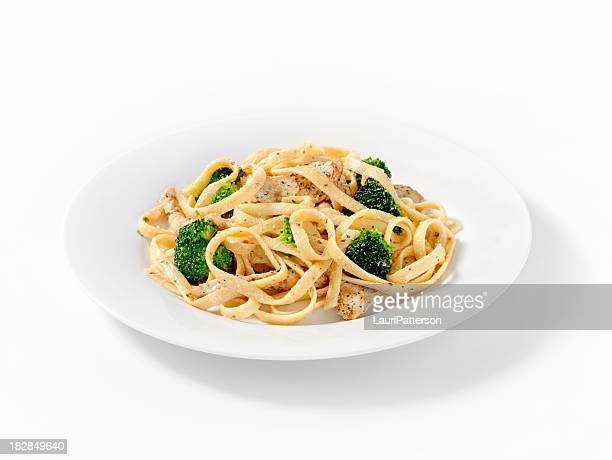 Grilled Chicken with Broccoli Fettuccini