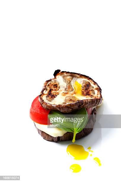Grilled eggplant and mozzarella