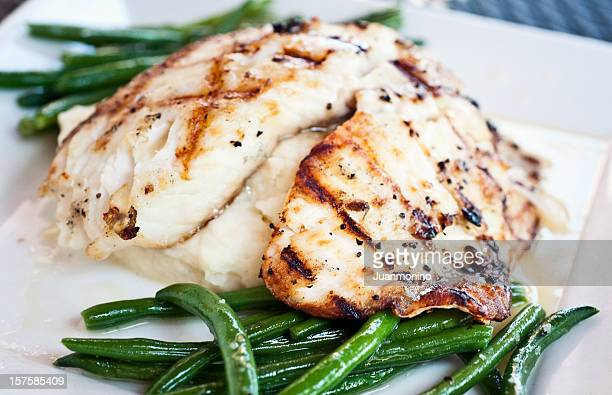 Grilled fillet of fish