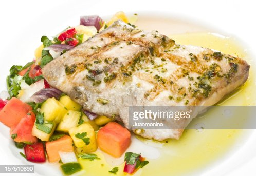 Grilled Fillet of Fish with tropical fruits
