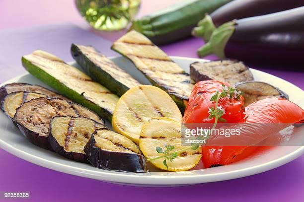 Jardin de légumes grillés