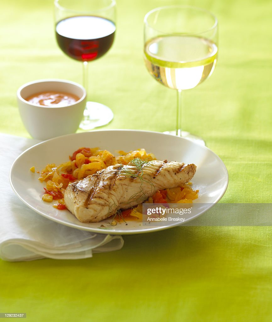 Grilled Halibut Seafood Fish Healthy Entree